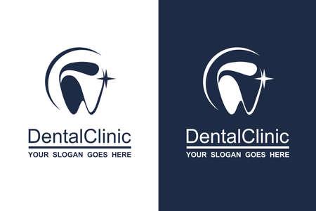 abstracte tandheelkundige icoon collectie voor tandheelkundige kliniek Vector Illustratie
