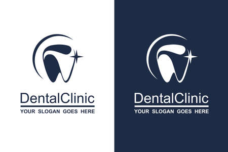 abstrakte zahnärztliche Ikonensammlung für Zahnklinik Vektorgrafik