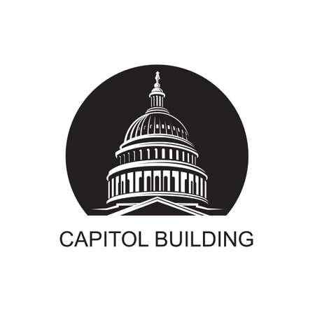 United States Capitol building icon in Washington DC Иллюстрация