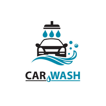 car wash service icon isolated on white background Stock Illustratie
