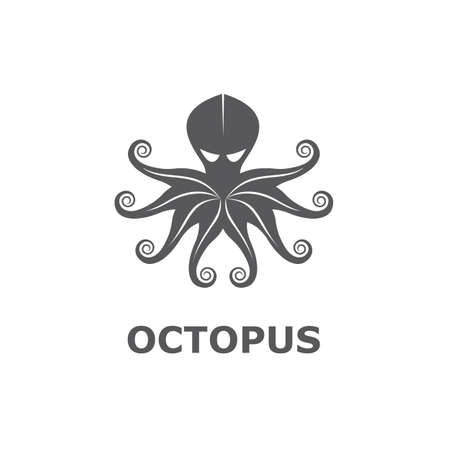 icon of octopus isolated on white background