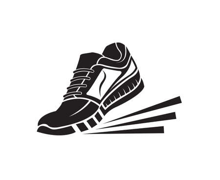 speeding running sport sneakers shoe icon