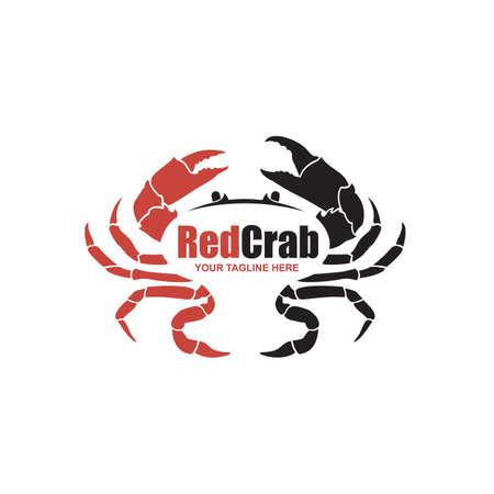 zeevruchten afbeelding met krab geïsoleerd op een witte achtergrond Vector Illustratie