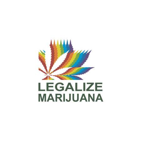 illustration of marijuana or cannabis leaf isolated on white background Illustration