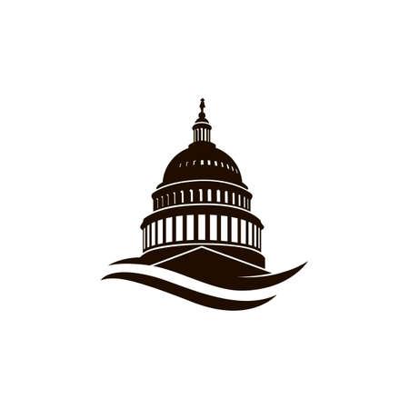 Icône de bâtiment du Capitole des États-Unis à Washington DC