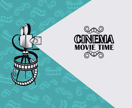retro movie projector background