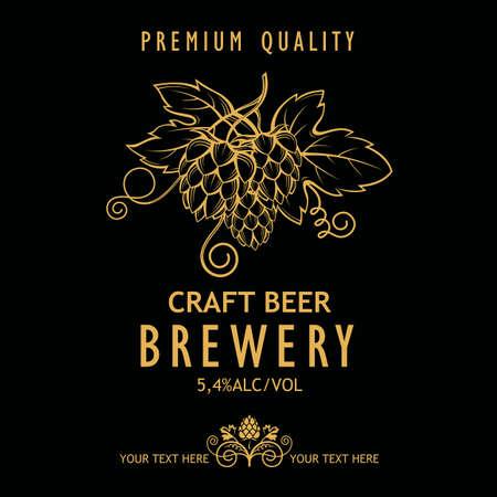 label for craft beer vector illustration