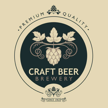 label for craft beer vector illustration