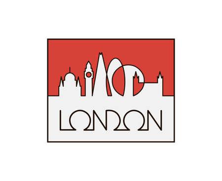 linear illustration of london city