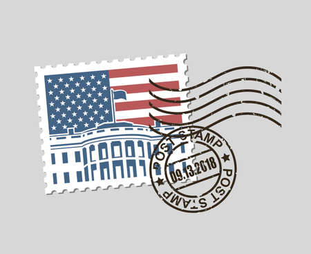 timbre-poste avec symbole américain