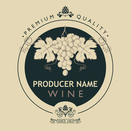 vintage label for wine bottles