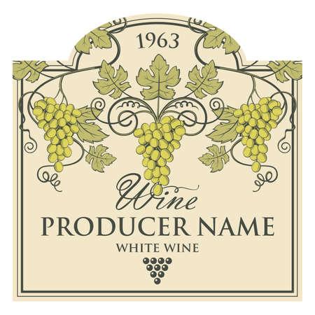 vintage etykieta na butelki wina