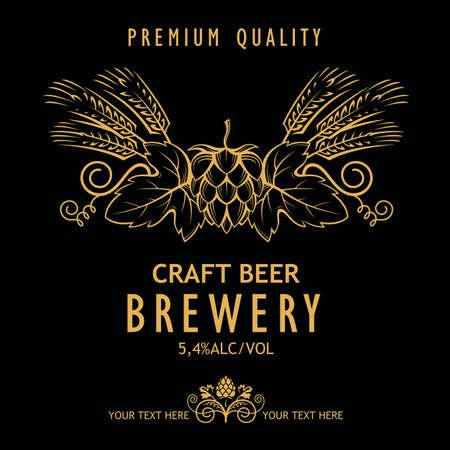 beer label design Illustration