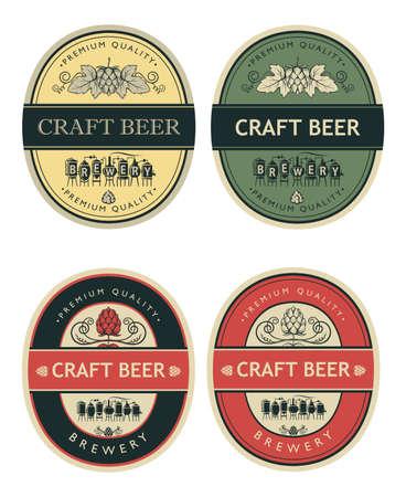 beer labels set Vector Illustratie
