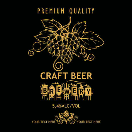 beer label design Фото со стока - 114360887