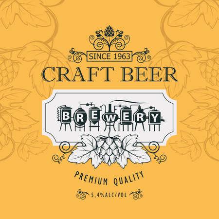 design dell'etichetta della birra