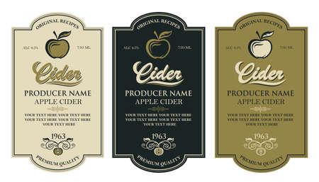 cider labels set Banque d'images - 115912718