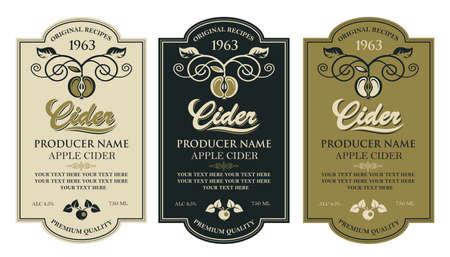 cider labels set