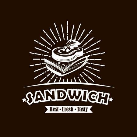 emblème avec sandwich