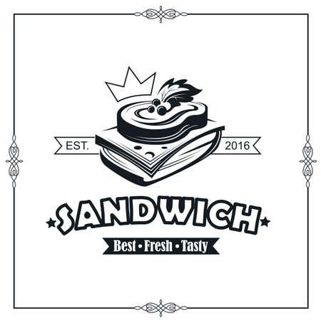 emblem with sandwich