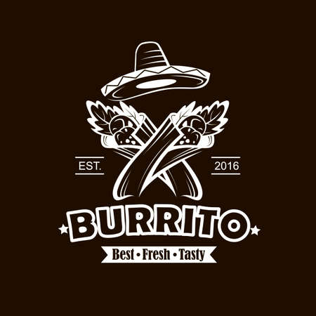 emblem with burrito