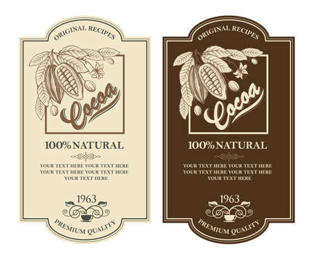 set of cocoa labels