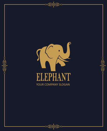 abstract elephant icon