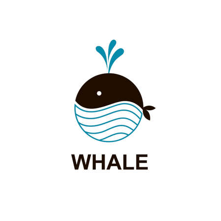 abstract whale icon