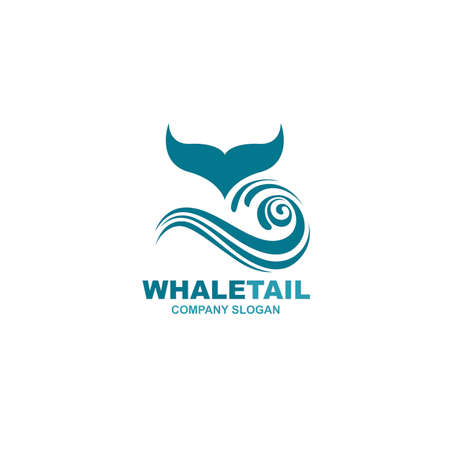 abstract whale tail icon
