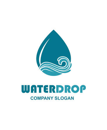 water drop icon with waves Illustration