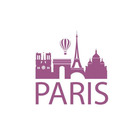illustration of paris landmark