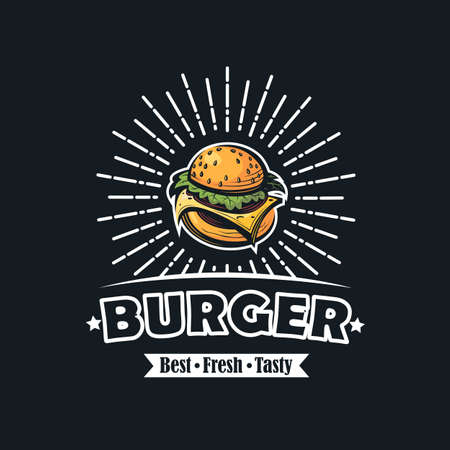 retro fast food image with burger