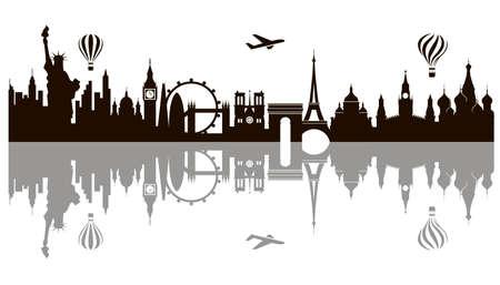 illustration of world landmark Ilustracja