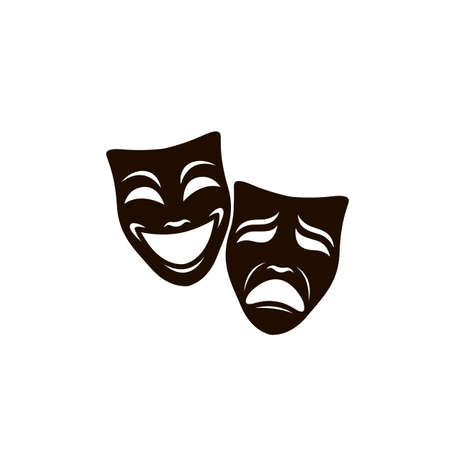 illustration of comedy and tragedy theatrical masks