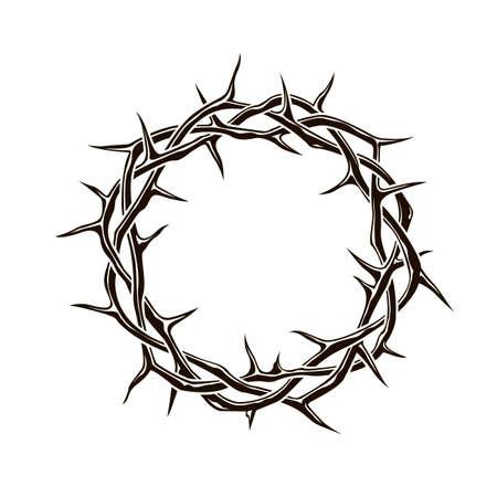 black crown of thorns image Vector Illustratie
