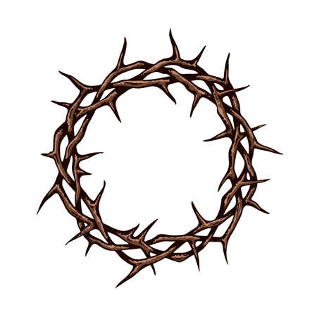 crown of thorns image isolated on white background Vektorové ilustrace
