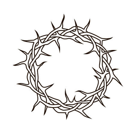 black crown of thorns image isolated on white background Standard-Bild - 122119636