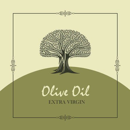 label for extra virgin olive tree oil