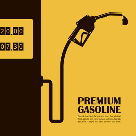 gas station poster Ilustrace