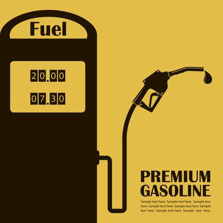 gas station poster Illustration