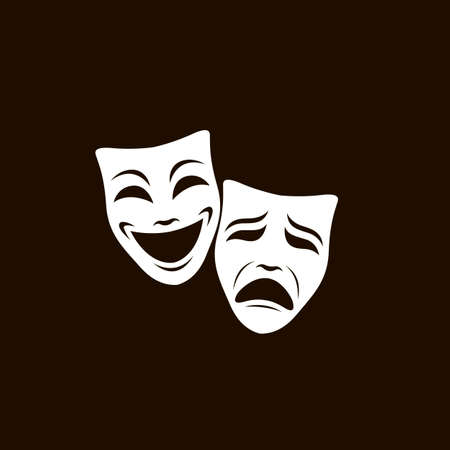 theatrical masks set