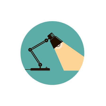 lámpara de iluminación de escritorio de oficina de mesa Ilustración de vector