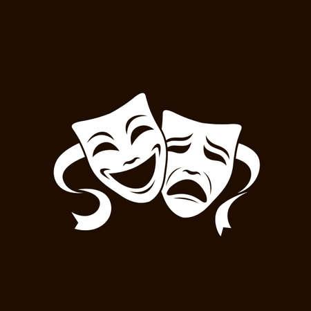 theatrical masks set Reklamní fotografie - 126404878
