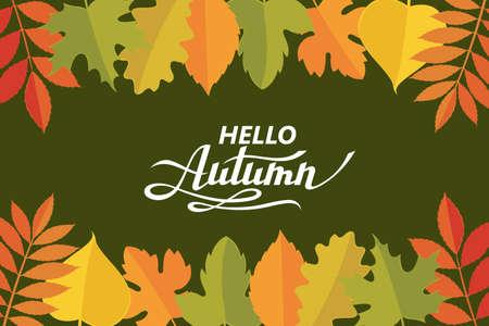 hello autumn pattern