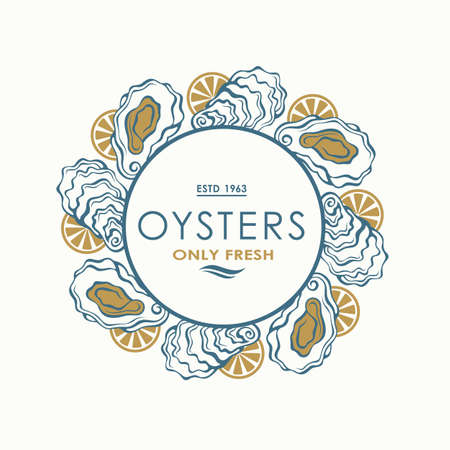 oyster shell label