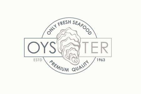 label of fresh oyster shell