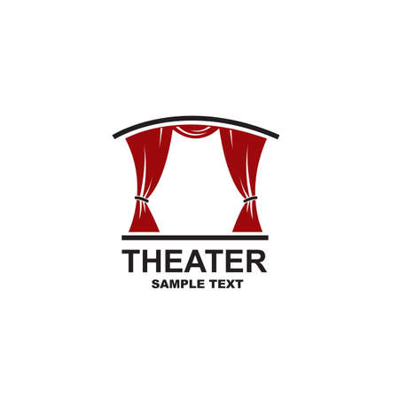 icon of theatrical scene with curtains  イラスト・ベクター素材