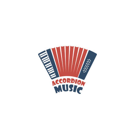 emblem of abstract musical instrument accordion