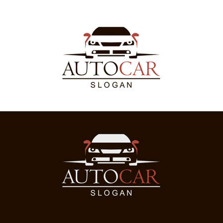 set of car emblems on black and white background Vektorgrafik
