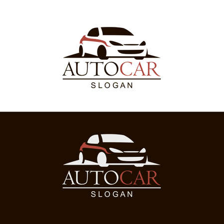 set of car emblems on black and white background